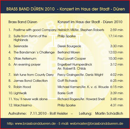 Brass Band Düren live 2010