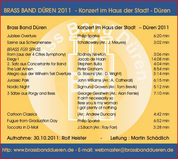 Brass Band Düren live 2011